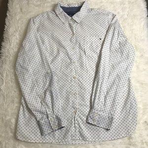 Tommy Hilfiger Men's Casual Button Up Shirt SZ XL